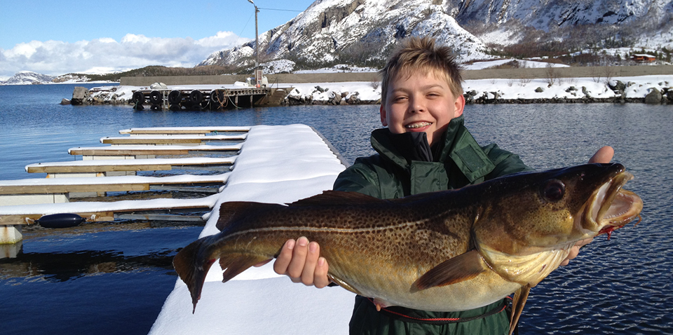 Lukas with a fish