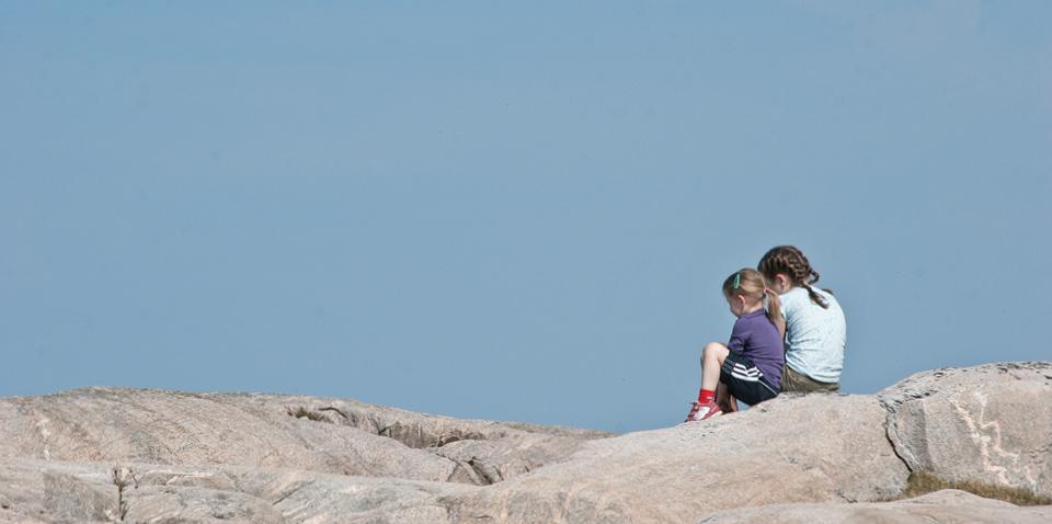 Silence on a rock