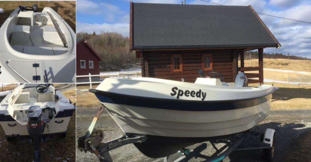 The boat Speedy